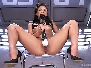 Gina Valentina And Her Dildo Machine