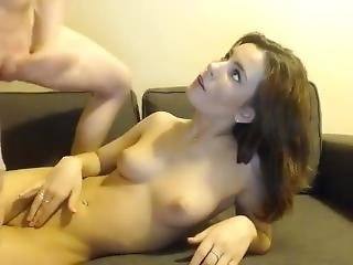 Coed Hottie Gets Fucked Hard At Home