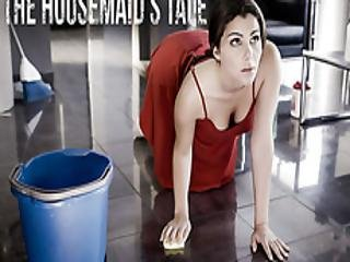 Housemaid Cleans The Floors And A Cock!