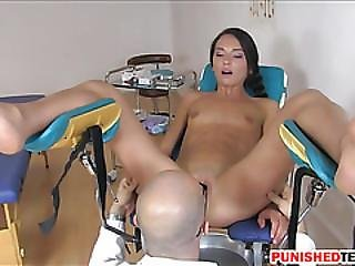 Slender Teen Nataly Gold Gets Ass Nailed By Pervert Doctor