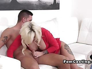 Tattooed Female Agent Bangs Till Jizz