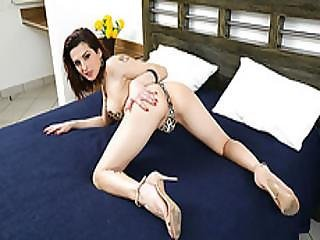 anal, gros téton, pipe, brunette, éjaculation, sexe, shemale, trans