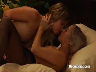 Slave And Mistress Playing While Voyeur Maid Masturbates