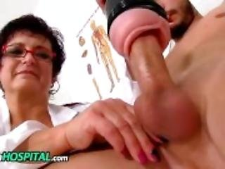 Czech big tits doctor Greta old young wankjob