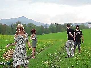 Czech Lesbian Adventure In Countryside With Bonus