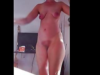 Hairy Redhead Mature Dance Tease Tits And Pussy