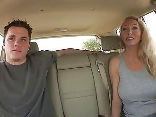 Blonde Milf With Juicy Tits Sucks Guy S Tool In The Car