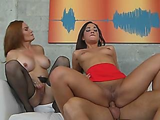 Milf And Teen Get Their Pussies Pounded By Younger Dude