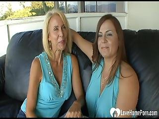 Two Milfs Pleasure Each Other S Cunts With Toys