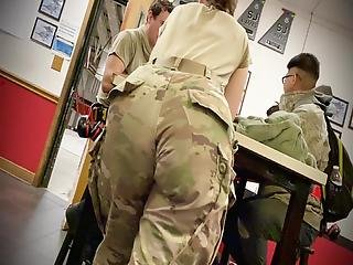Big Juicy Military Pawg Ass Bending Over Table!!!