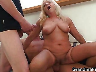 Stockings Grandma Fucked