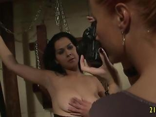 Horny Mistress Fucks Her Slave With A Strap On