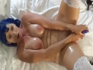 Oiled Tits Pov Toy Fuck Masturbation