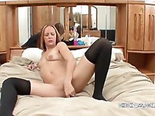 Horny Hottie Penelope Fucking Her Twat With Toys