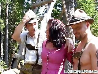 Mountain Fuck Fest Babes With Big Tits Group Fucked