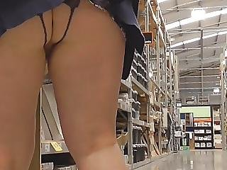 Amateur, British, Crotchless, Flashing, Panties, Public, Skirt, Upskirt