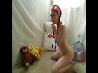 ερασιτεχνικό, κούκλα, πατούσα, καυτή έφηβη, αυνανισμός, κοκκινομάλλα, έφηβη, Webcam