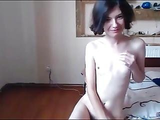 Fille Webcam, Poilue, Maigre, Fine, Petits Seins, Doucement, Webcam
