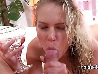 Lovesome Chick Is Geeting Urinated On And Ejaculates Wet Twat
