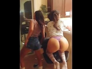 Drunk Teen Step Sisters Share A Cock