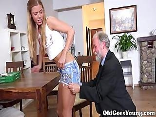 Old Goes Young - Chrissy Fox Has The Sweetest Teen Pussy