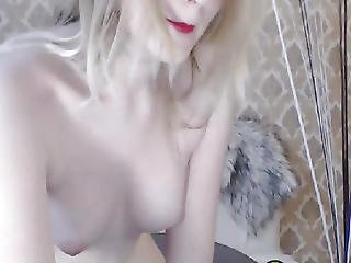 Sexy Blonde Teasing With Charm And Naked Booty