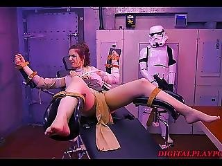 Star Wars Parody Rey Gets Tied Up Bondaged Pussy Licked
