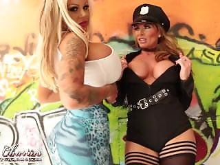 Candy Charms & Her Girlfriend Milf In Uniform Police With Big Tits Plays...