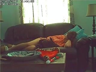My Horny Wife Secretly Humping Our Couch When She Is Home Alone.
