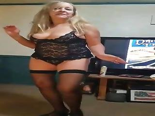 Mom Does A Strip Tease Part 1