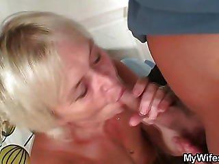 Blonde Mature Banged By Big Dick