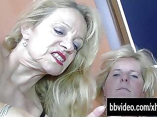 Bisexual German Mature Women Fucking In Threesome