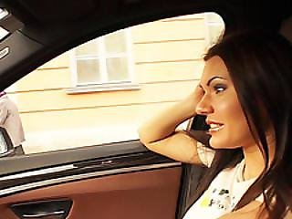 Charming Kitana Gets Spotted By Dude And Fucked In The Back Seat