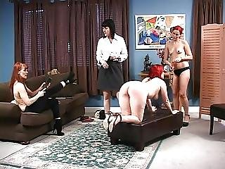 Lesbian, Sorority, Spanking