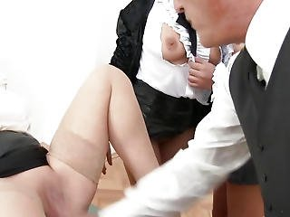 Rich Students Fuckfest With Male Teacher In Class