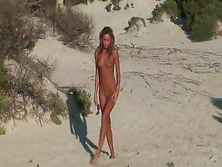 Skinny Teen. Naked On The Beach