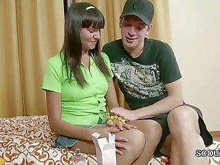 Bro Seduce Petite Step-sister To Get First Fuck And Facial