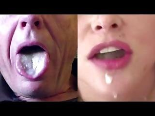 Split Screen Cum Swallow 1