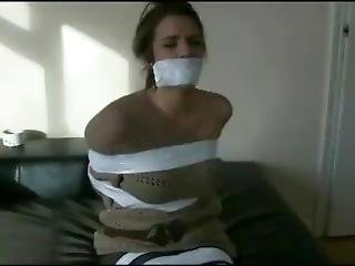 Girl In Tape Bondage