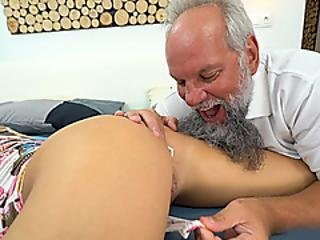 Grandpa Licks And Fucks A Hot Ass Blonde Czech Teen