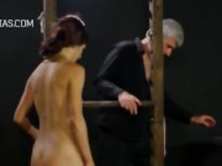 bondage, bröst, fetish, straffa