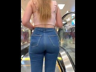 Uk Candid Jeans Ass 5