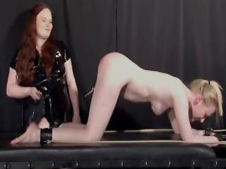 Satine Sparks Lesbian Foot Fetish And Hot Waxing Bdsm Of Blonde Submissive Babe By Lezdomme Mistress In The Bondage Dungeon Of Pain