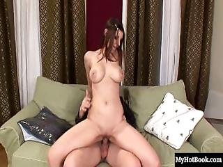 Ricky Is A Pretty Brunette With Big Boobs, Gets It On With Her