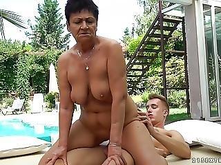 Granny Eats A Young Guy S Cum