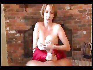 Mommy Gives Her Boy Relaxing Handjob