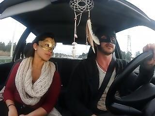 Batmuma E Diana Cu De Melancia No Carro