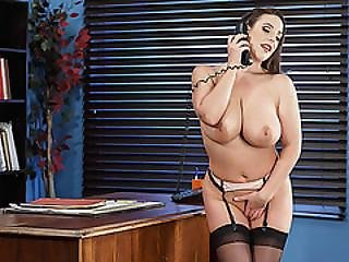 Horny Secretary Angela Sucks Markus Huge Cock