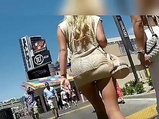 amatorski, dupa, duży tyłek, niemka, spódnica, widok spod spódniczki