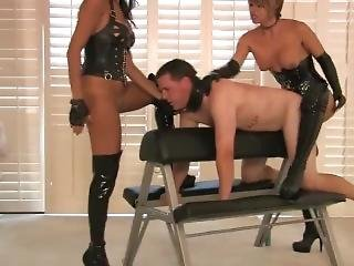 Two Mistresses Humiliate Maleslave
